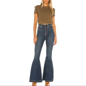 NWT FP super high rise flare jeans